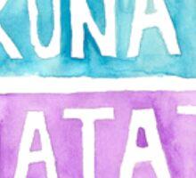 """watercolor """"Hakuna Matata"""" Sticker"""