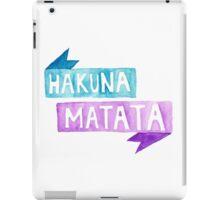 """watercolor """"Hakuna Matata"""" iPad Case/Skin"""
