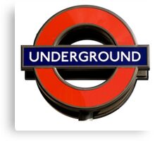 UNDERGROUND, TUBE, SIGN, Roundel, platform, Ealing Broadway, Westminster, BRITISH, BRITAIN, UK Canvas Print