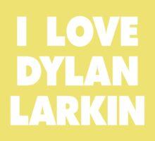 I LOVE DYLAN LARKIN Detroit Red Wings Hockey One Piece - Short Sleeve