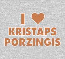 I LOVE KRISTAPS PORZINGIS New York Knicks Basketball heart Kids Clothes