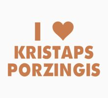 I LOVE KRISTAPS PORZINGIS New York Knicks Basketball heart One Piece - Short Sleeve