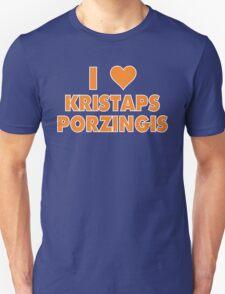 I LOVE KRISTAPS PORZINGIS New York Knicks Basketball heart T-Shirt