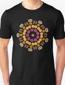 Kaleidoscope Biscuit Circular Pattern Unisex T-Shirt