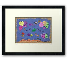 The Continents of Sexuality Framed Print