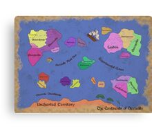 The Continents of Sexuality Canvas Print