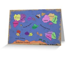 The Continents of Sexuality Greeting Card