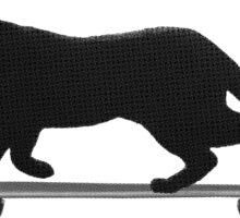 Black Cat Club Skate Sticker