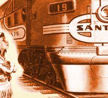 Sante Fe Railroad little Chief Sticker