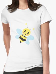 Busy Buzzing Honey Bee Womens Fitted T-Shirt