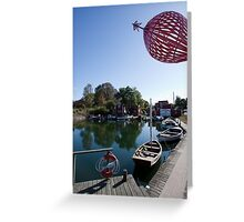 Fishing Village in Malmo Sweden Greeting Card
