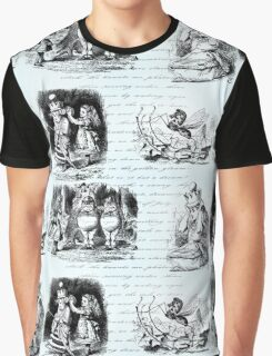 Alice in Wonderland Toile Graphic T-Shirt