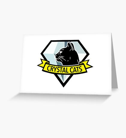 Crystal Cats Logo Greeting Card