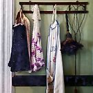 Aprons and Feather Duster by Susan Savad