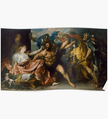 Samson and Delilah by Anthony van Dyck (1628 - 1630) Poster
