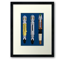 Sonic screwdrivers Framed Print