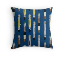 Sonic screwdrivers Throw Pillow