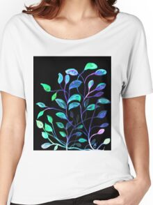 Do Not Go Into The Night, Red and Green Leaves Women's Relaxed Fit T-Shirt