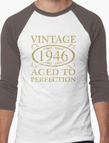 Vintage 1946 Birthday Men's Baseball ¾ T-Shirt