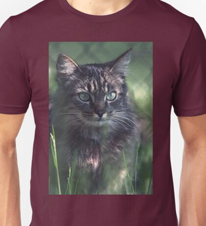 "Chat - Cat "" Tchink boom"" 02 (c)(t) ) by Olao-Olavia / Okaio Créations 300mm f.2.8 canon eos 5 1989  Unisex T-Shirt"
