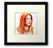 Willow Coloured Pencil Drawing Framed Print