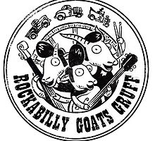 Rockabilly Goats Gruff Logo black distressed by crozbones