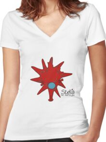 Stella the Astrocyte Women's Fitted V-Neck T-Shirt