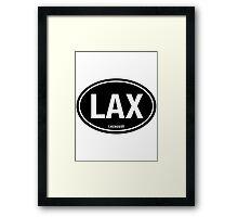 LAX - EURO STICKER Black Framed Print