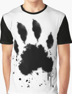 Black Paw Graphic T-Shirt