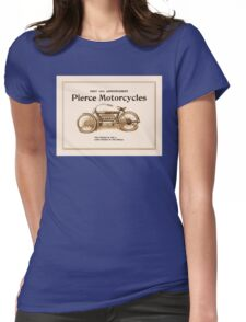 1910 Pierce motorcycles, classic American motorbike ad Womens Fitted T-Shirt