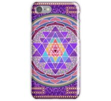 Sri Yantra Purple iPhone Case/Skin
