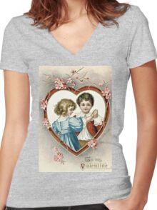 To My Valentine Women's Fitted V-Neck T-Shirt