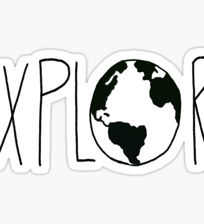 Explore the Globe Sticker