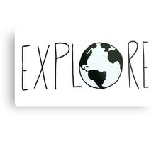 Explore the Globe Metal Print