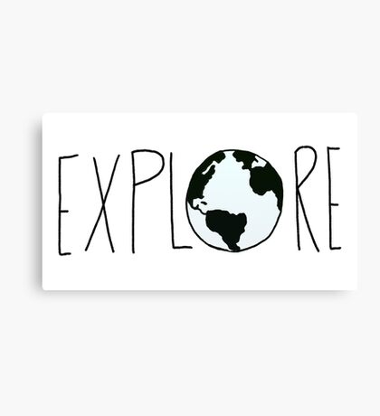 Explore the Globe Canvas Print
