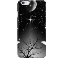 Bright galaxy and Moon  iPhone Case/Skin