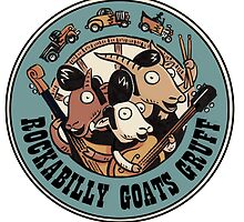 The Rockbilly Goats Gruff Logo Old Timey by crozbones