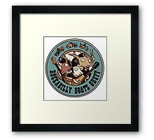 The Rockbilly Goats Gruff Logo Old Timey Framed Print