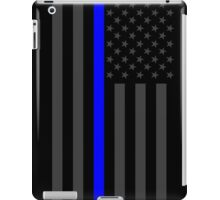 The Symbolic Thin Blue Line on American Flag iPad Case/Skin