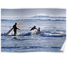 Whaddya Mean?  Surfing Isn't a Winter Sport? Poster