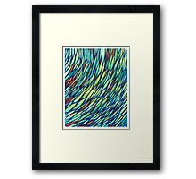 Feathered - Weave Series Framed Print