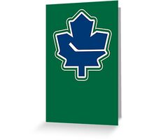 Leafs - Canucks Logo Mashup Greeting Card
