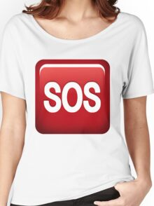 SOS emoji Women's Relaxed Fit T-Shirt