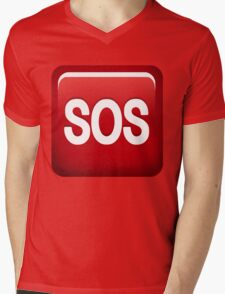 SOS emoji Mens V-Neck T-Shirt
