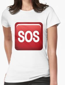 SOS emoji Womens Fitted T-Shirt
