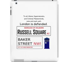 London is Defended iPad Case/Skin
