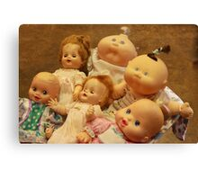 Baby Dolls Over the Years Canvas Print