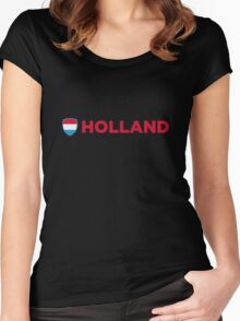 National Flag of Netherlands Women's Fitted Scoop T-Shirt