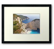 Shipwreck Zante Island Greece Framed Print