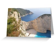 Shipwreck Zante Island Greece Greeting Card